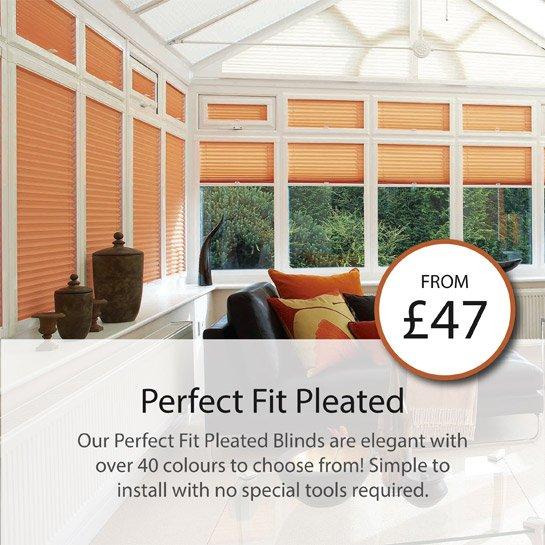 our perfect fit pleated blinds are elegant with over 40 colours to choose from! simple to install with no special tools required.