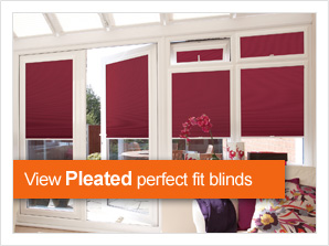 Pleasted perfect fit blinds